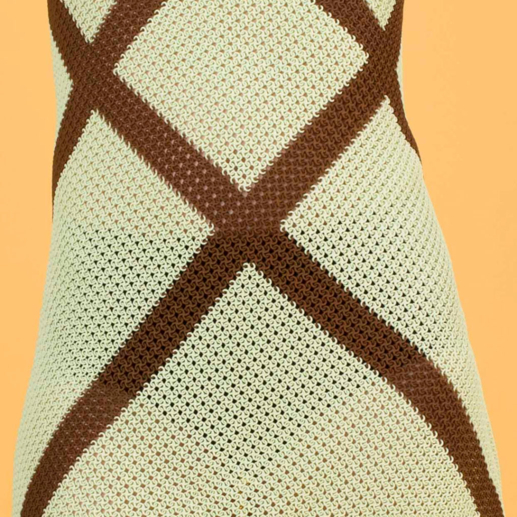 Modeclix Chocolate Mint Dress Detail